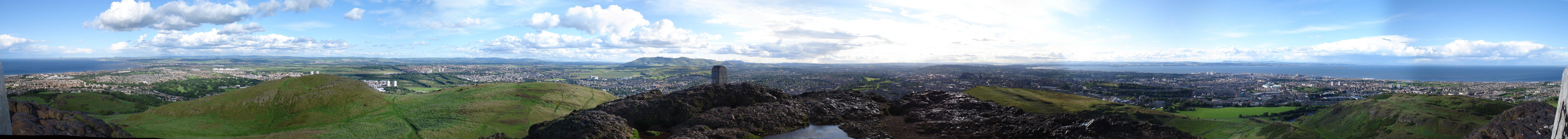 Arthur's Seat Hill panorama